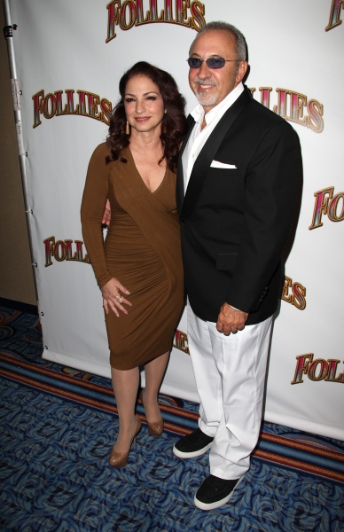 Gloria Estefan & Emilio Estefan at FOLLIES Starry Opening Night Theatre Arrivals