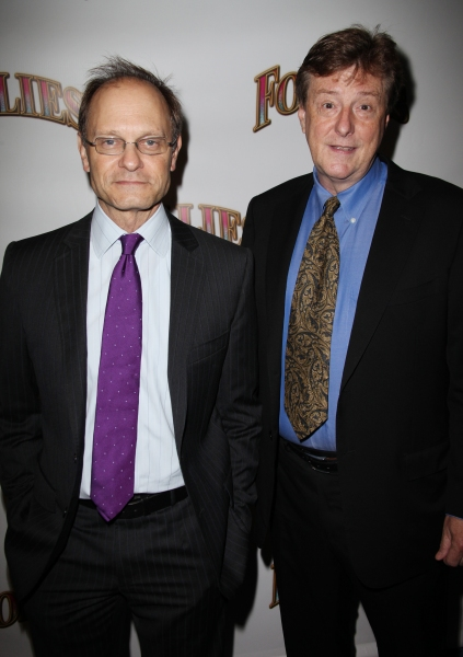 David Hyde Pierce and Brian Hargrove at FOLLIES Starry Opening Night Theatre Arrivals