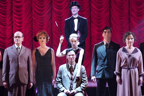 Bryce Ryness, Robert Picardo, Katrina Lenk, Jeff McLean, Lisa O'Hare as Sally Bowles, Zach Bandler and Mary GorDon Murray