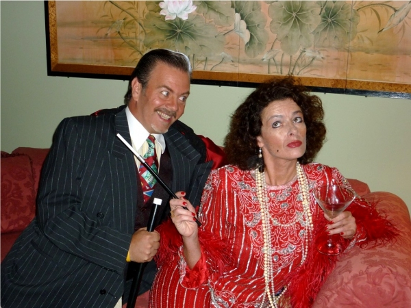 Lorenzo Cambriello (as Rodolfo) and Kathleen Hart (as The Drowsy Chaperone)