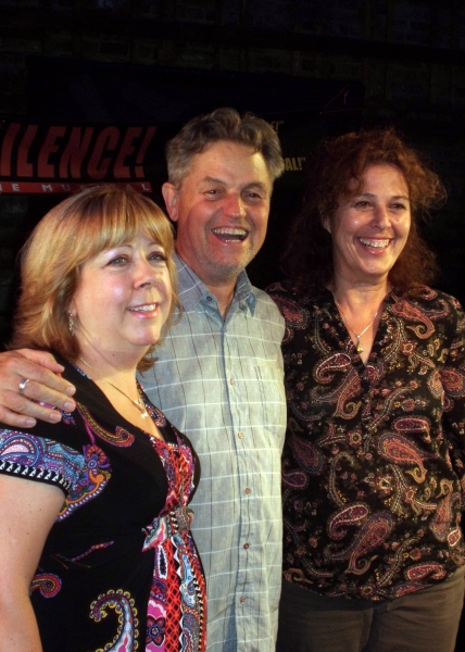 Jonathan Demme (center) with SILENCE! The Musical Producers Victoria Lang and Donna Trinkoff