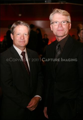CTG Artistic Director Michael Ritchie (L) and CTG Board President William H. Ahmanson