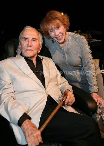Kirk Douglas (L) and Brindell Gottlieb   at Theatre Artist Dinner at the Kirk Douglas Theatre