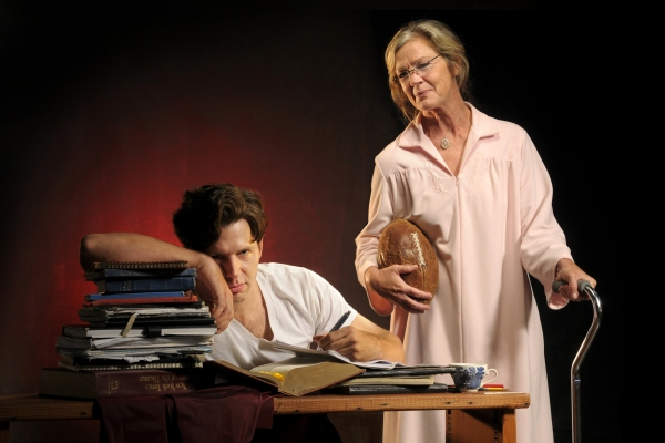 Tyler Pierce (left) and Linda Gehringer
