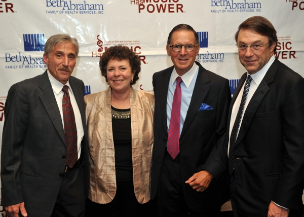 Music Has Power honorees Steven A. Sparr and Jim Kohlberg with Institute for Music and Neurologic Function (IMNF) Executive Director Dr. Concetta M. Tomaino, D.A., MT-BC, LCAT, and Chairman of the Board Ed Stern. at Michael Feinstein Hosts The Music Has Power Awards!