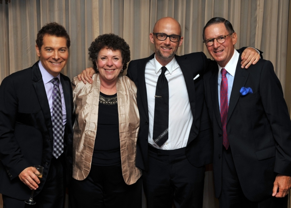 Performers Michael Feinstein and Moby with IMNF Executive Director Dr. Concetta M. Tomaino, D.A., MT-BC, LCAT, and Chairman of the Board Ed Stern.