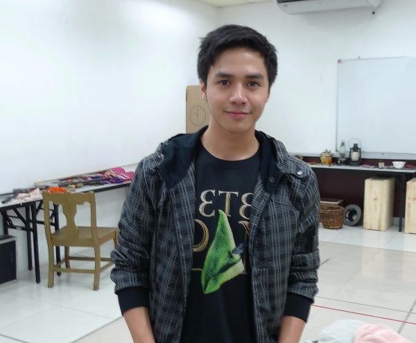 At rehearsals:  Sam Concepcion poses for BroadwayWorld.com