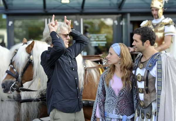 Stewart Copeland, actress Janzine Euwe and actor Sebastian Thrun Photo