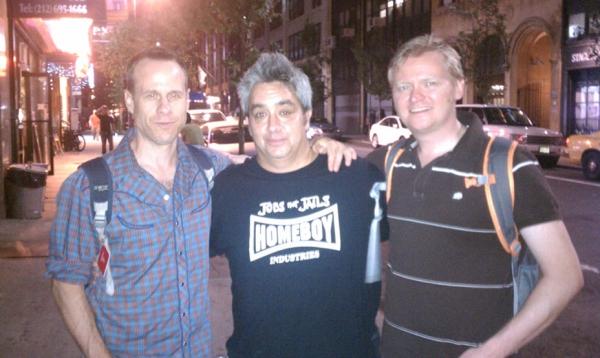 Stephen Belber, Stephen Adly Guirgis and Sam Helfrich. (Credit: DARR Publicity)