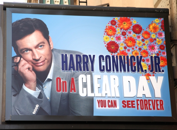 Theatre Marquee unveiling of 'On A Clear Day You Can See Forever' at the St. James Theatre in New York City.