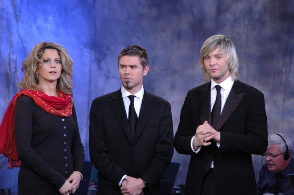 Neil Byrne and Keith Harkin visit with WLIW TV 21's Laura Savini