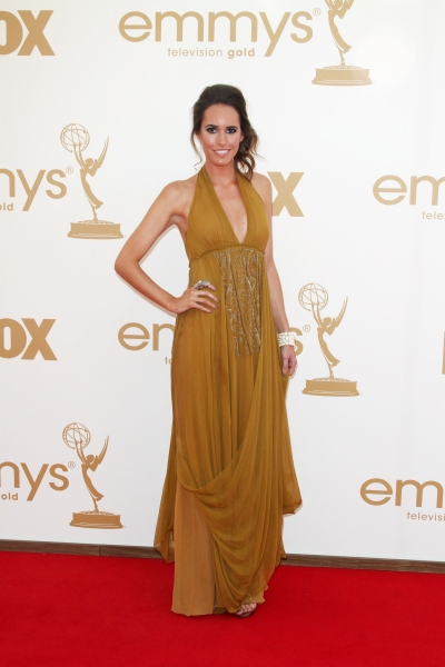 Louise Roe  at Lea Michele, Sofia Vergara, et al. on the Emmys Red Carpet!