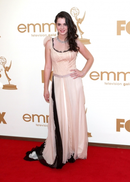 Vanessa Marano  at Lea Michele, Sofia Vergara, et al. on the Emmys Red Carpet!