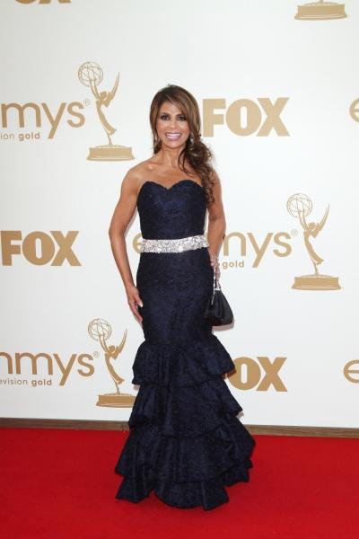 Paula Abdul  at Lea Michele, Sofia Vergara, et al. on the Emmys Red Carpet!