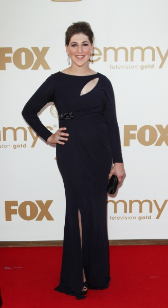 Mayim Bialik  at Lea Michele, Sofia Vergara, et al. on the Emmys Red Carpet!