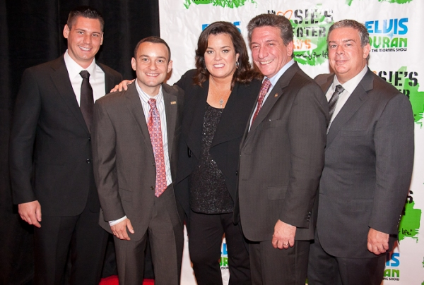 Alex Carr, Giosue Pugliese, Rosie O'Donnell, Assemblyman Matthew Titone, and Radio Host Elvis Duran