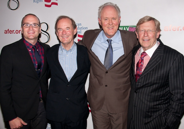 Chad Griffin, David Boies, John Lithgow, and Theodore Olson Photo