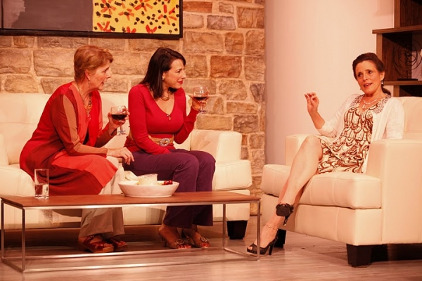 Liz Frost as Janice McCall, Tracy Newirth as Polly Barrett, and Jill Melanie Wirth as Sandy Loring