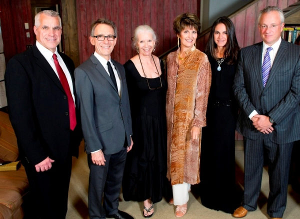 Michael Ross, Westport Country Playhouse managing director; Mark Lamos, Playhouse artistic director; Anne Keefe, Playhouse artistic advisor; Lucie Arnaz, Playhouse alumna guest; Kim and Niv Harizman, gala co-chairs