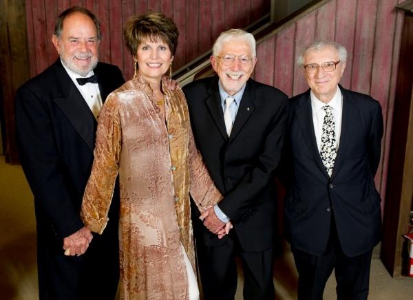 Laurence Luckinbill, Lucie Arnaz, Tom Jones and Sheldon Harnick Photo