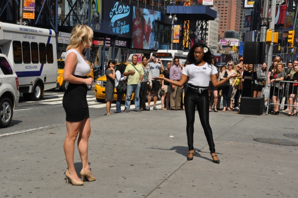 Photo Coverage: Broadway Takes Part in Shellac Flash Mob in Times Square fo Fashion Week