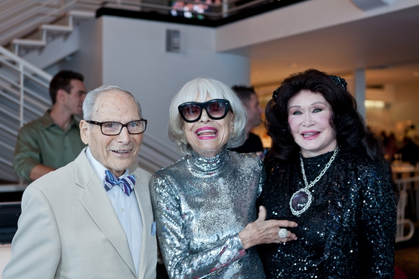 Harry Kullijian, Carol Channing and Barbara Van Orden at Carol Channing & More At Palm Springs EMMY Night Party
