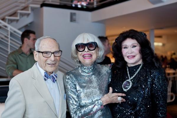 Harry Kullijian, Carol Channing and Barbara Van Orden