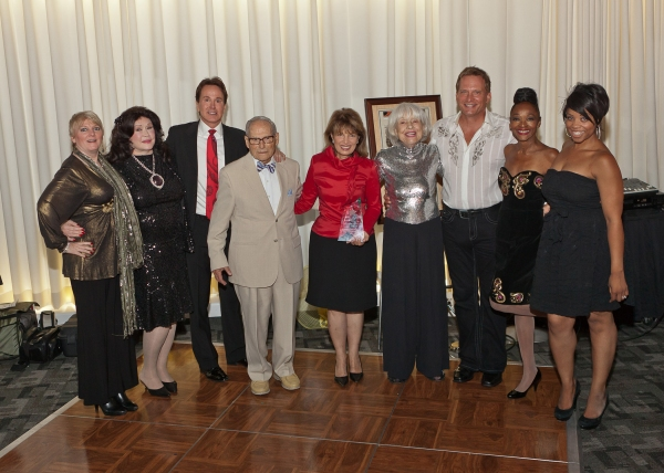 Alison Arngrim, Barbara Van Orden, Davis Gaines, Harry Kullijian, Jackie Speier, Carol Channing, Rex Smith, Jonelle Allen and Kamilah Marshall at Carol Channing & More At Palm Springs EMMY Night Party
