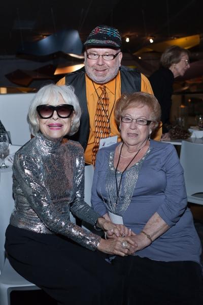 Carol Channing, Geoffrey Mark and Lillian Mark Photo