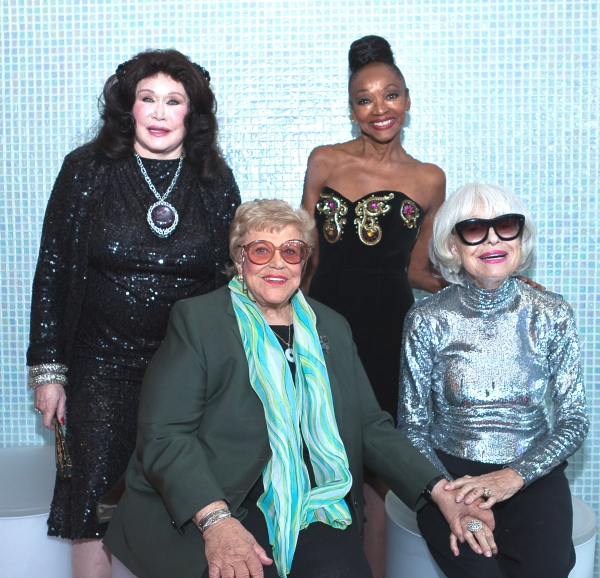 Barbara Van Orden, Kaye Ballard, Jonelle Allen and Carol Channing