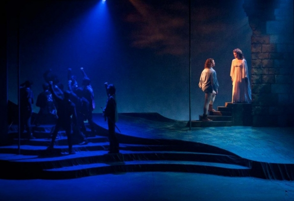 Jarid Faubel as Lancelot, Jim Stanek and Kim Carson and Cast at Engeman Theater's CAMELOT- Part 2!