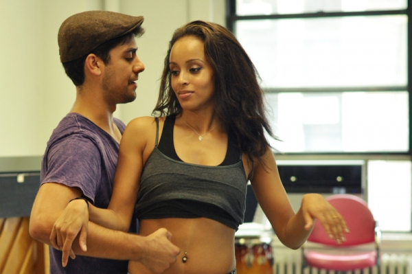 Perry Young and Presilah Nunez at 'In The Heights' 2nd National Tour in Rehearsals