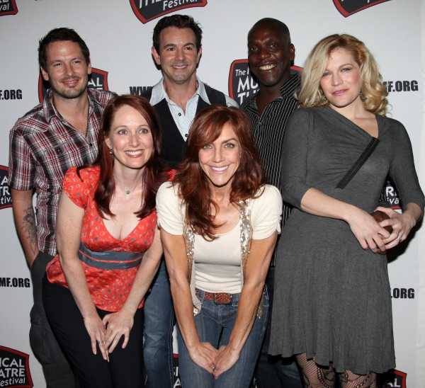 The cast of 'Greenwood' featuring Andrea McArdle, Felicia Finley, Mary Mossberg, Alicia Morton & Cary Shields