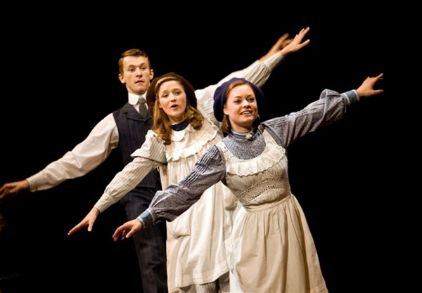 Tim Lewis, Grace Rowe, Amy Noble at The Railway Children at Waterloo Station