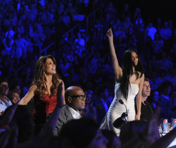 Paula Abdul, L.A. Reid, Nicole Sherzinger and Simon Cowell  at THE X FACTOR Premieres on FOX!