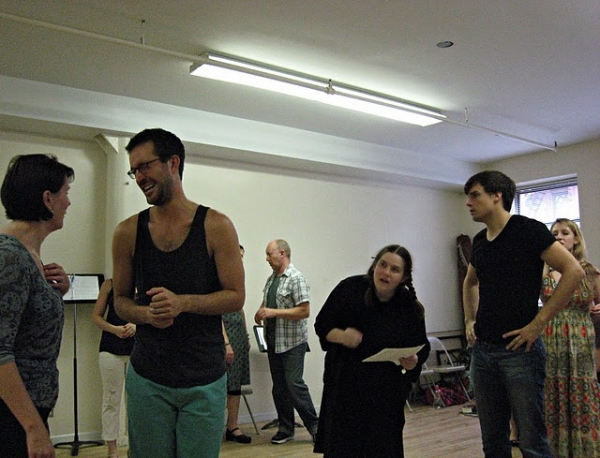 Marguerite Willbanks - Matthew Schneider - Keith Kirkwood - Donna Lynne Champlin - Doug Carpenter - Kaitlyn Davidson at JANE AUSTEN'S PRIDE & PREJUDICE in Rehearsal!
