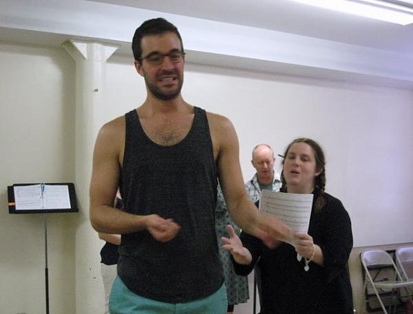 Matthew Schneider - Donna Lynn Champlin at JANE AUSTEN'S PRIDE & PREJUDICE in Rehearsal!
