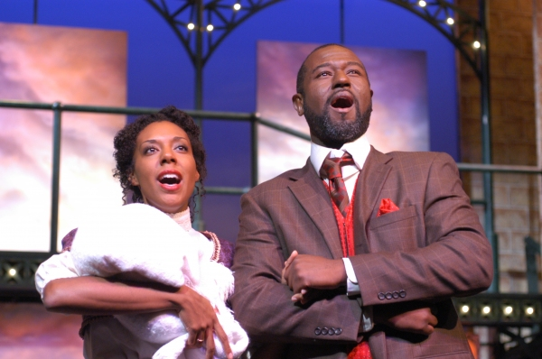 Christina Acosta Robinson as Sarah and Tyrone Robinson as Coalhouse Walker Jr.