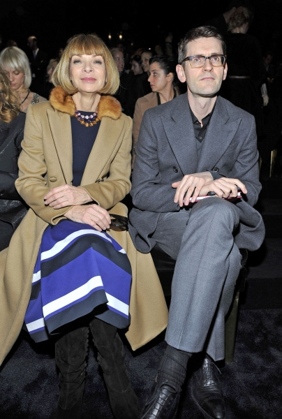 Anna Wintour at Celebrities at Milan Fashion Week