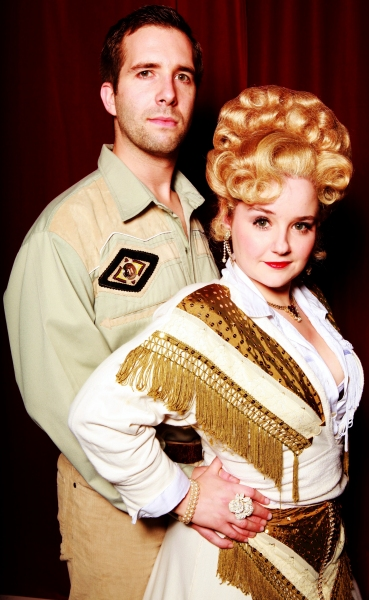 Sarah Lark as Miss Mona and James Parkes as Sheriff Ed Earl Dodd