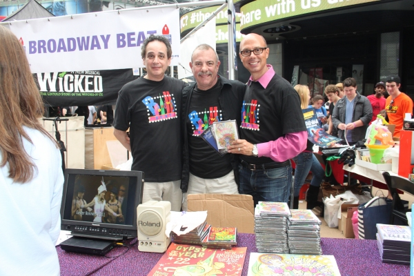 Sidney Meyer, Bradshaw Smith and Richie Ridge at the Broadway Beat Table