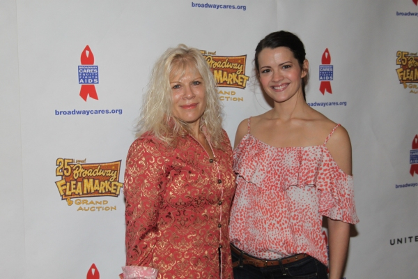 Ilene Kristen and Rose Hemingway at Backstage at the 2011 BC/EFA Flea Market