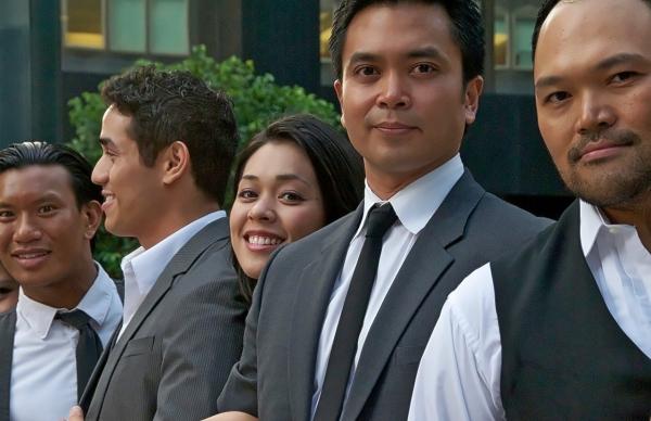 Albert Guerzon, Adam Jacobs, Lora Nicolas, Jose Llana, Orville Mendoza