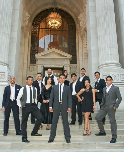 Mel Maghuyop, Albert Guerzon, Marc dela Cruz, Lydia Gaston, Orville Mendoza, Jose Llana, Aaron Albano, Billy Bustamante, Catherine Ricafort, JP Moraga, Adam Jacobs at Exclusive  Llana, Jacobs, Desai et al. Photo Shoot for SUITES BY SONDHEIM