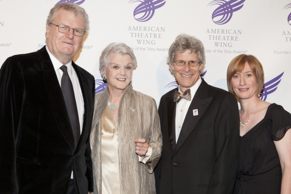 Sir Howard Stringer, Angela Lansbury, Ted Chapin and Heather Hitchens