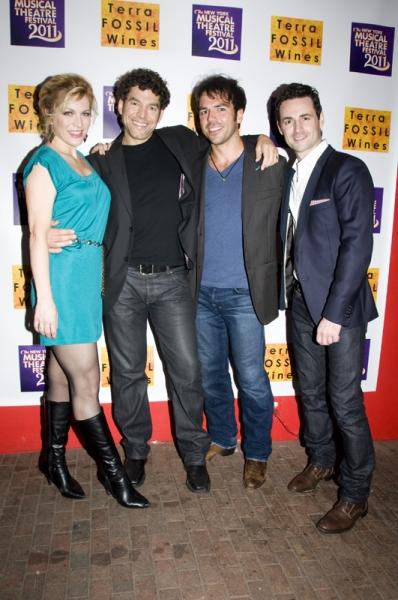 Felicia Finley, Paul Stancato, Nick Dalton & Max von Essen at 2011 NYMF Kicks Off with Opening Gala!