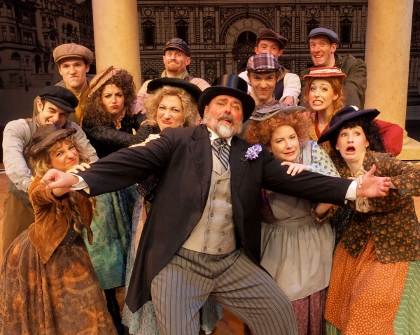 Bill Dietrich and ensemble in My Fair Lady