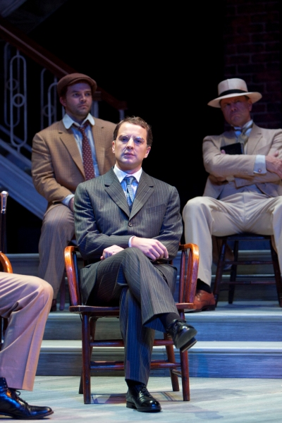 Euan Morton as Leo Frank with (background) Chris Sizemore and Stephen F. Schmidt Photo