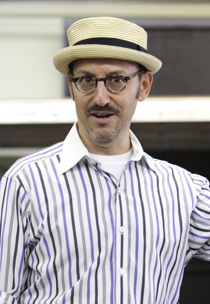 Director Will Pomerantz at the Open Press Rehearsal for the Second Stage Theater Production of 'The Blue Flower' at the Second Stage Rehearsal Room in New York City.