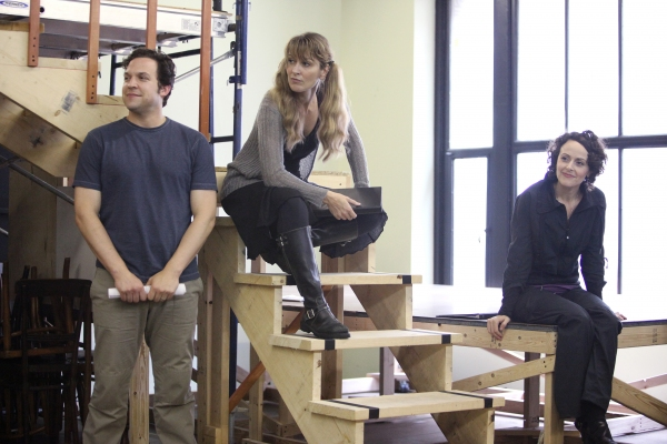 Aaron Serotsky, Meghan McGeary & Julia Osborne at the Open Press Rehearsal for the Se Photo